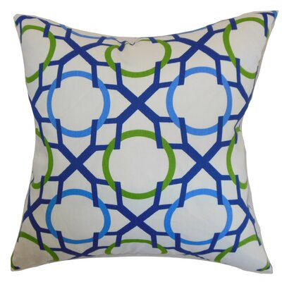 Lacbiche Geometric Cotton Throw Pillow Cover Color: Blue Green