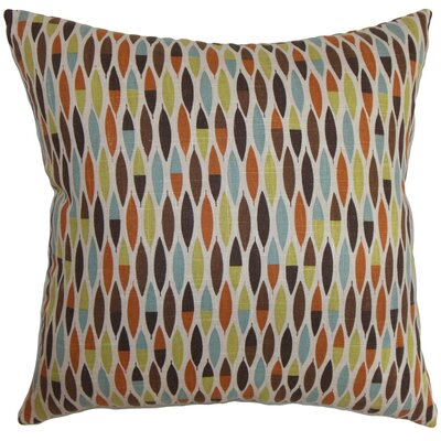 Candie Geometric Linen Throw Pillow Cover Color: Multi