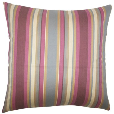 Tefo Striped Throw Pillow Size: 18 x 18, Color: Orchid
