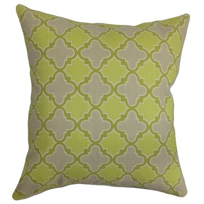 Erasma Geometric Cotton Throw Pillow Cover Size: 18 x 18