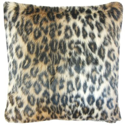 Deloris Square Faux Fur Cotton Throw Pillow Cover