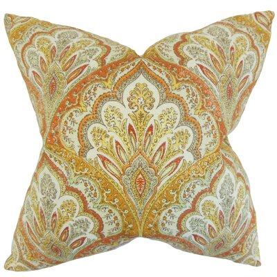 Xanthipe Paisley Cotton Throw Pillow Cover Color: Amber