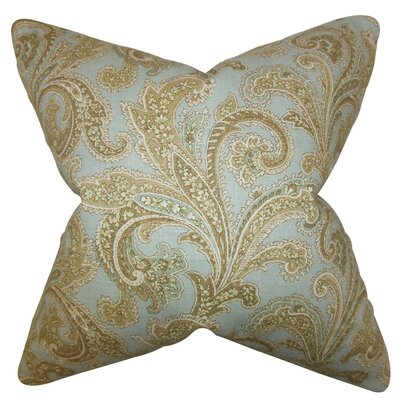 Hazaiah Floral Linen Throw Pillow Size: 22 x 22