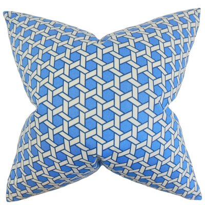 Ragan Geometric Cotton Throw Pillow Cover Color: Blue