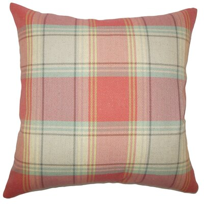 Cagney Plaid Faux Fur Throw Pillow Cover