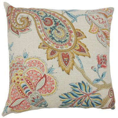 Delgado Paisley Linen Throw Pillow Size: 20 x 20