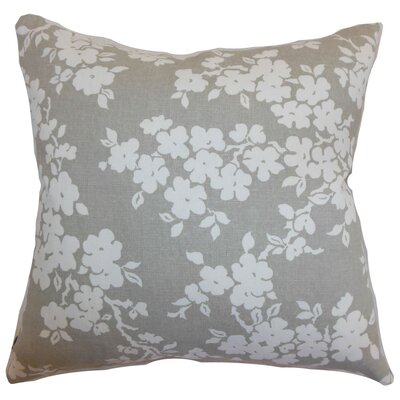 Vieste Floral Bedding Sham Size: Queen, Color: Smoke