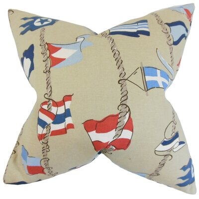 Inagua Flags Throw Pillow Size: 18 x 18