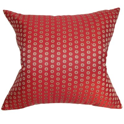 Radclyffe Cotton Throw Pillow Color: Hot Pepper, Size: 18x18