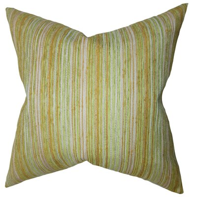 Bartram Stripes Throw Pillow Cover Color: Gold Green