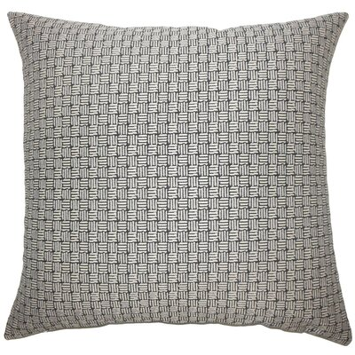 Nahuel Geometric Throw Pillow Cover Color: Black White