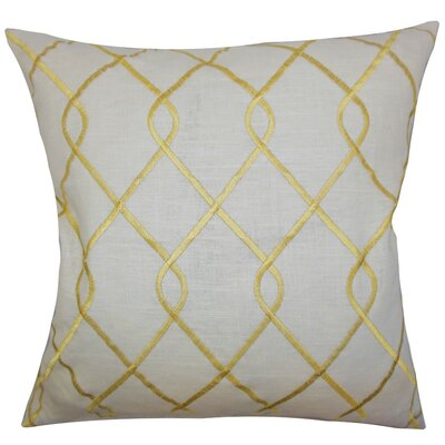 Jolo Geometric Bedding Sham Size: Queen, Color: Yellow