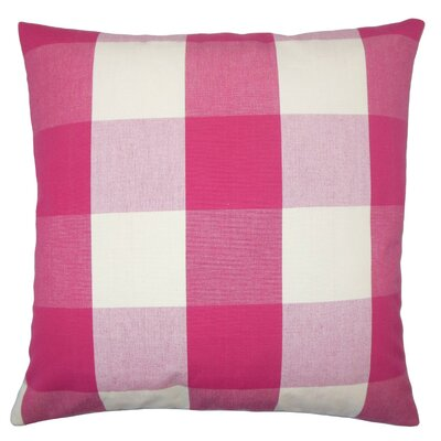 Pyralis Plaid Cotton Throw Pillow Cover Size: 18