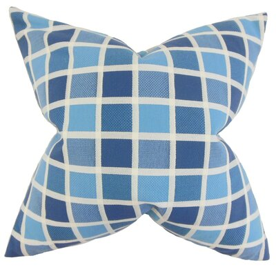 Gali Geometric Cotton Throw Pillow Cover Color: Blue