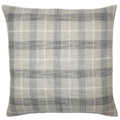 Quinto Plaid Throw Pillow Cover Color: Marine