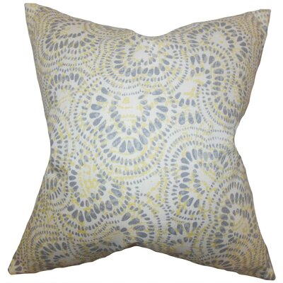 Glynis Floral Cotton Throw Pillow Cover Color: Jonquil
