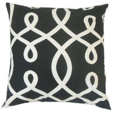 Precia Geometric Cotton Throw Pillow Size: 18 x 18