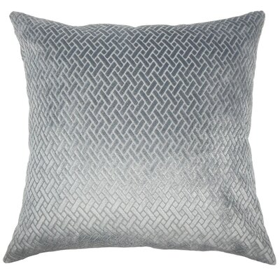 Ilayda Solid Throw Pillow Cover Color: Slate