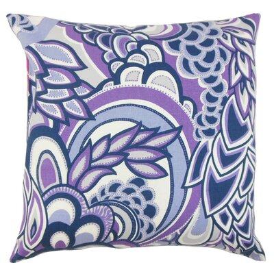 Michal Floral Throw Pillow Cover Color: Plum