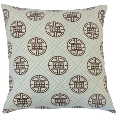 Gambhiri Linen Throw Pillow Color: Surf, Size: 18 x 18