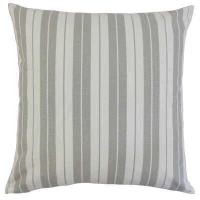 Henley Stripes Throw Pillow Cover Color: Slate
