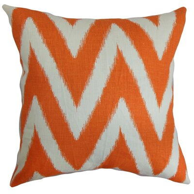 Bakana Zigzag Throw Pillow Cover Color: Orange