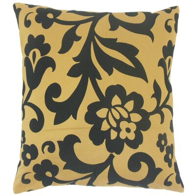 Fisseha Floral Cotton Throw Pillow Cover Color: Tigers Eye