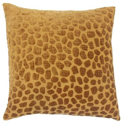 Lameez Throw Pillow Color: Ginger, Size: 18 x 18