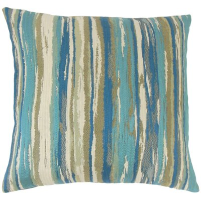Uchenna Stripes Throw Pillow Cover Color: Caribbean