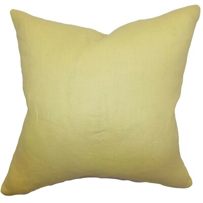 Idalya Plain Linen Throw Pillow Size: 18 x 18