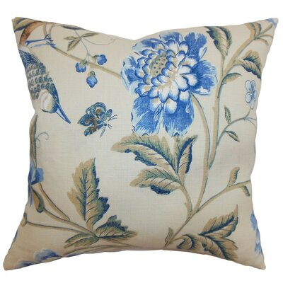 Regina Floral Cotton Throw Pillow Cover