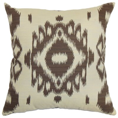 Gaera Ikat Bedding Sham Color: Chocolate, Size: Queen