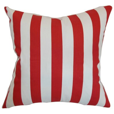 Ilaam Stripes Throw Pillow Cover Color: Lipstick