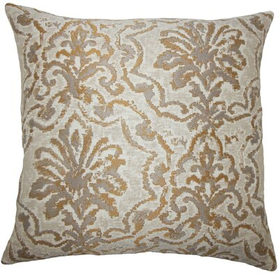 Zain Damask Throw Pillow Cover Color: Camel