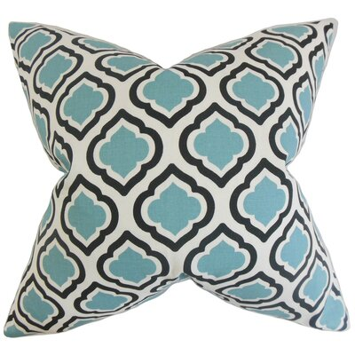 Abijah Geometric Throw Pillow Cover Color: Blue