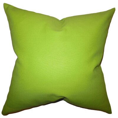 Kalindi Solid Throw Pillow Cover Color: Chartreuse
