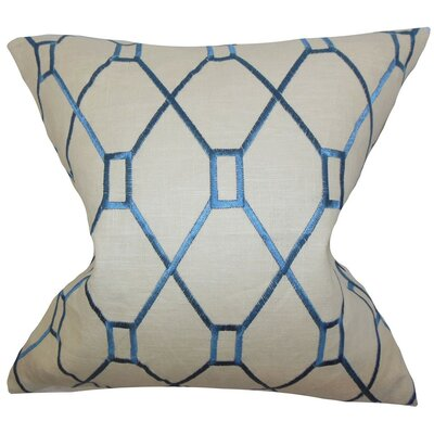 Nevaeh Geometric Throw Pillow Cover Color: Blue