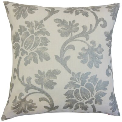 Patrice Floral Throw Pillow Cover Color: Platinum