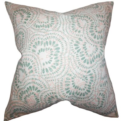 Glynis Floral Cotton Throw Pillow Cover Color: Pink Green
