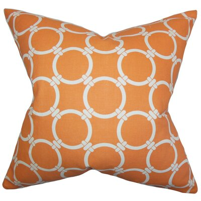 Cadencia Geometric Cotton Throw Pillow Cover Color: Orange