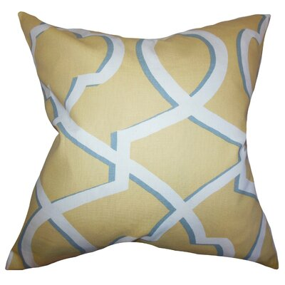 Curan Geometric Cotton Throw Pillow Cover Color: Yellow