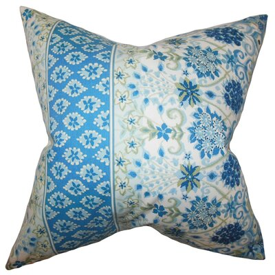 Kairi Floral Cotton Throw Pillow Cover Color: Lapis