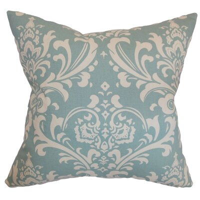 Keeley Damask Throw Pillow Cover Color: Village Blue