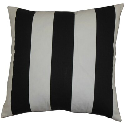 Leesburg Stripes Cotton Throw Pillow Cover Color: Black White