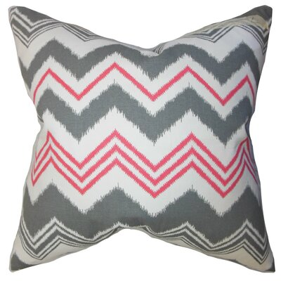 Quirindi Zigzag Bedding Sham Size: Euro, Color: Gray/Flamingo
