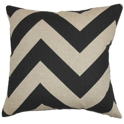 Eir Zigzag Throw Pillow Cover Color: Black Natural