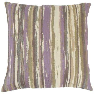 Uchenna Stripes Throw Pillow Cover Color: Lavender