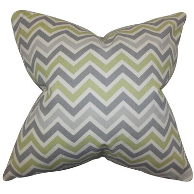 Howel Zigzag Cotton Throw Pillow Cover Color: Reed Natural