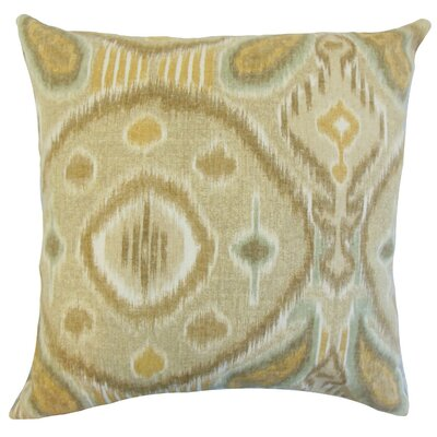 Janvier Ikat Throw Pillow Cover Color: Rattan