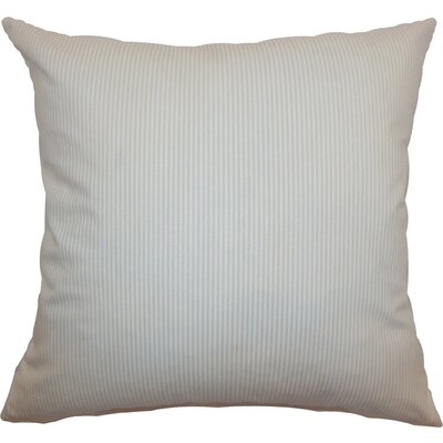 Quenilda Ticking Cotton Throw Pillow Size: 18 x 18